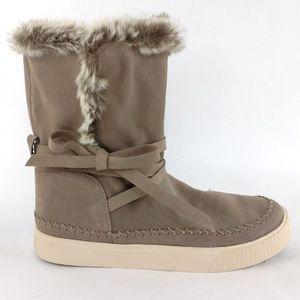TOMSVista Pull On faux fur waterproof Boot 6.5
